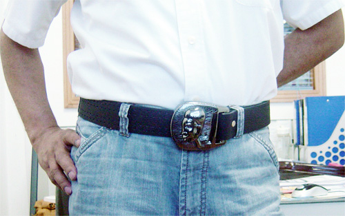 Obaba spy belt buckle just in time for the presidential inauguration