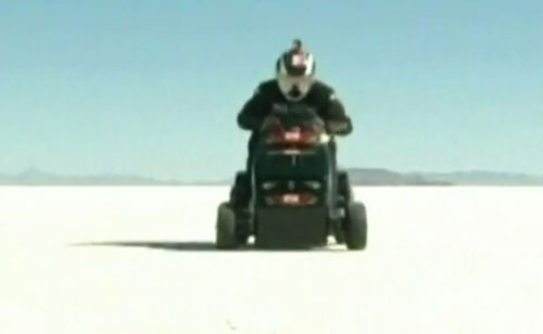 World's fastest lawn mower sets speed record