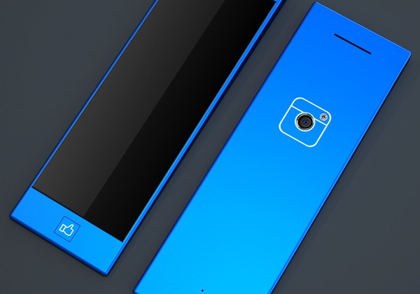 """Facebook phone concept appears with """"like"""" home button"""