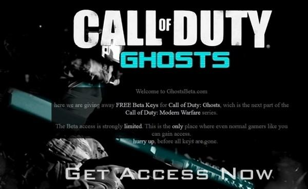 """PSA: Call of Duty: Ghosts """"beta invite"""" imposter websites on the prowl"""