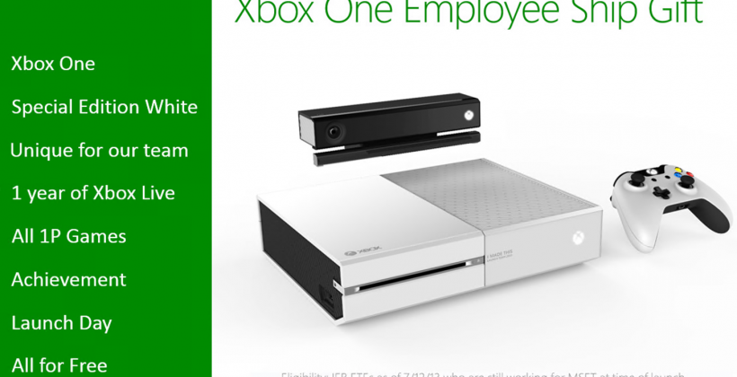 Xbox One white edition pops up as employee-only incentive