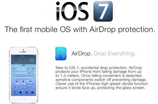 """iOS 7 Waterproof hoax expands with """"AirDrop protection"""""""