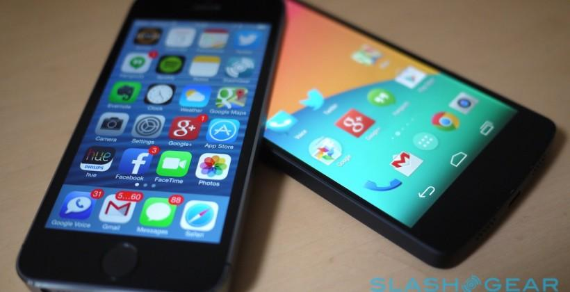 iOS 7 upgrade rate now over 70% as KitKat sidles into Android OS stats