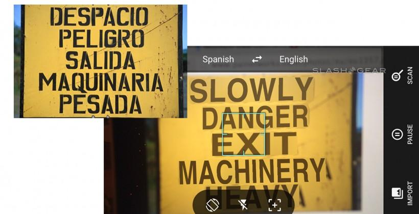Google Translate Word Lens and live translation hands-on