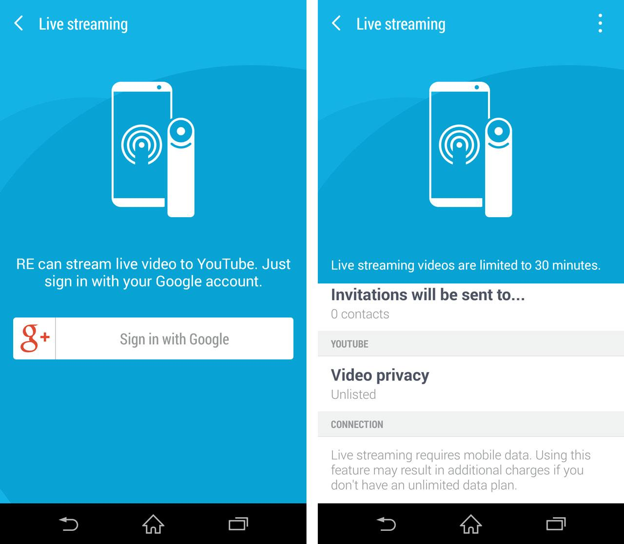 how to watch youtube live stream on android