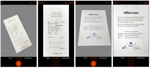 Office Lens Scans the Tables and Documents into Digital Text