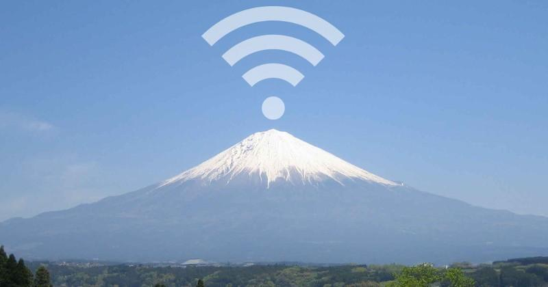 Mount Fuji will be a free Wi-Fi zone for 3 months
