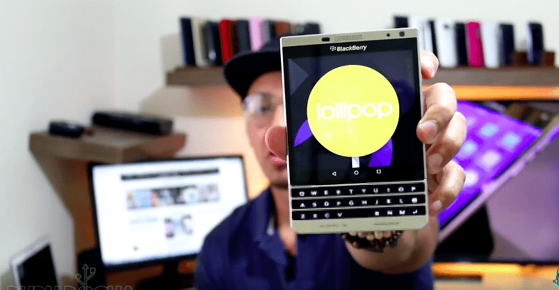 BlackBerry Passport with Android Lollipop shows up in video