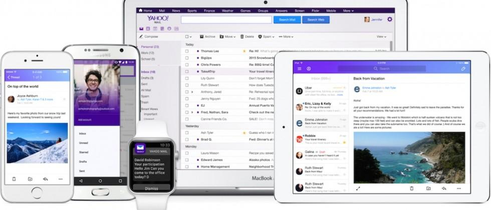 Yahoo updates email apps with third-party account support, no passwords