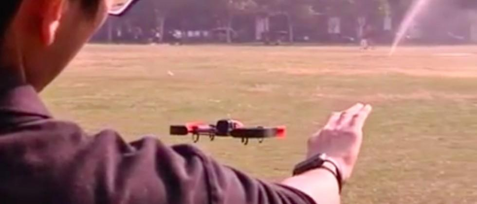 This drone is controlled by an Apple Watch's motion sensors