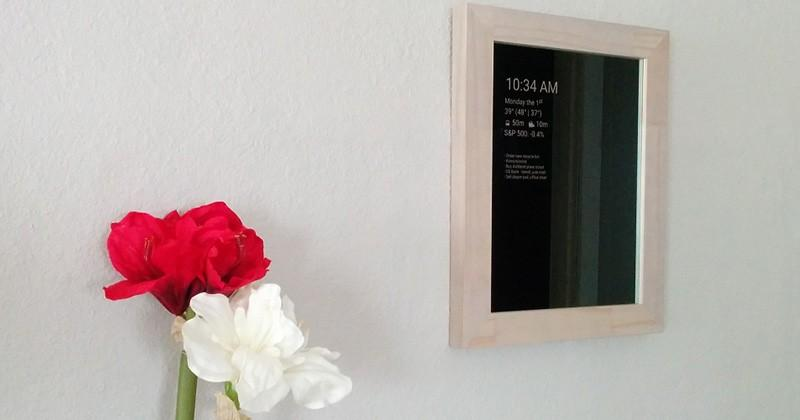 Build your own Android magic mirror on the cheap