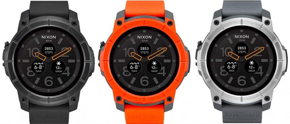 Nixon Mission Android Wear smartwatch goes up for sale