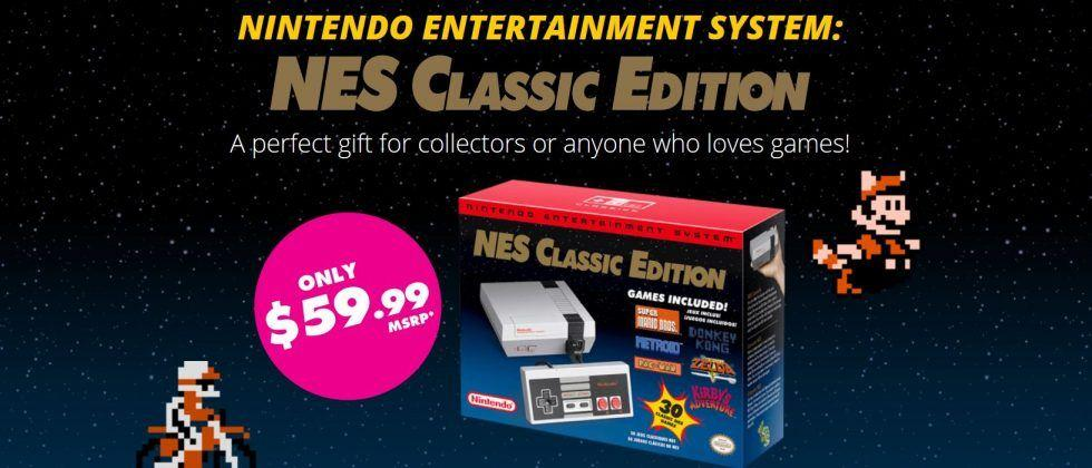 NES Classic Edition in stock at ThinkGeek, but only for lottery winners
