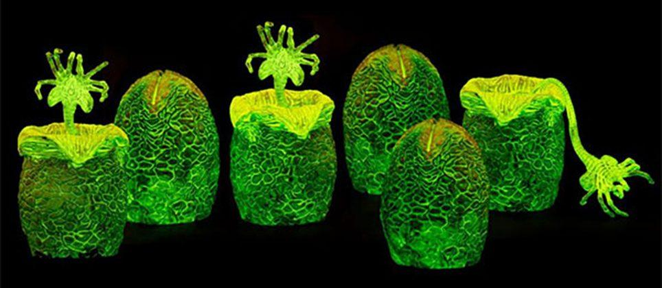 These glowing Alien Xenomorph eggs should be in your Easter basket