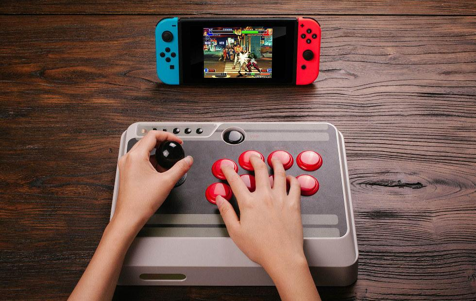 8Bitdo NES30 arcade stick works on Android, Nintendo Switch