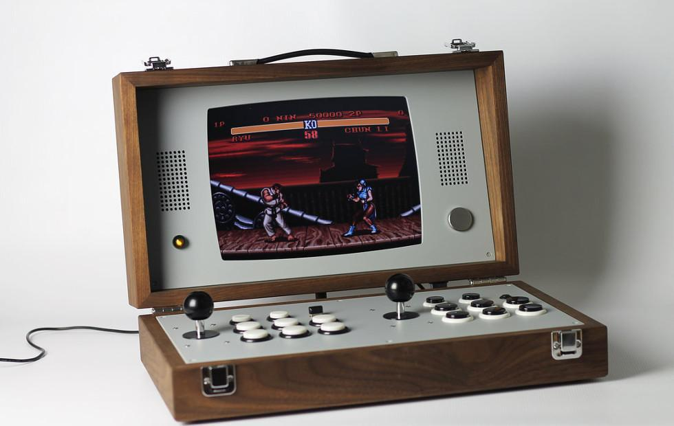 Cary42 turns an arcade cabinet into a wooden briefcase