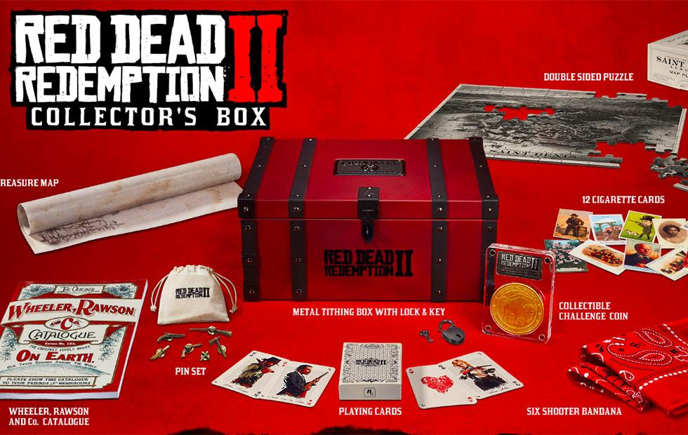 Red Dead Redemption 2 Collector's Box loot detailed