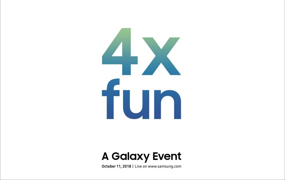 """Samsung teases a new Galaxy device with """"4x fun"""""""