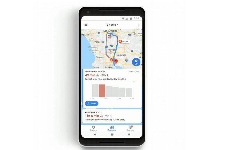 Google Maps gets new features to help manage your commute