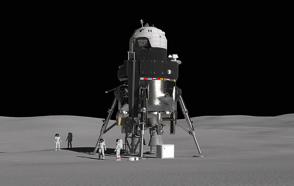 This reusable Moon lander is Lockheed Martin's vision for space colonies