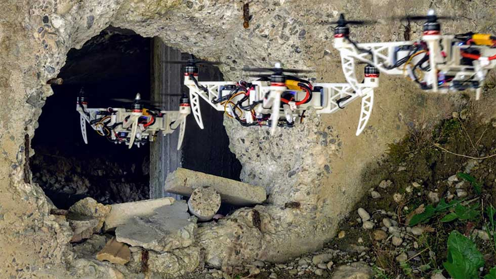 Folding drone tucks up tight to fly through small spaces