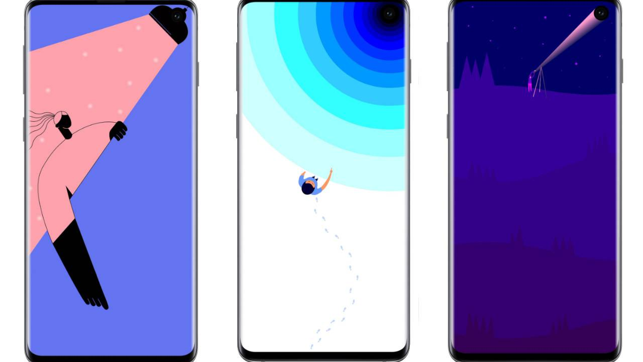 These clever Galaxy S10 wallpapers embrace the hole-punch camera