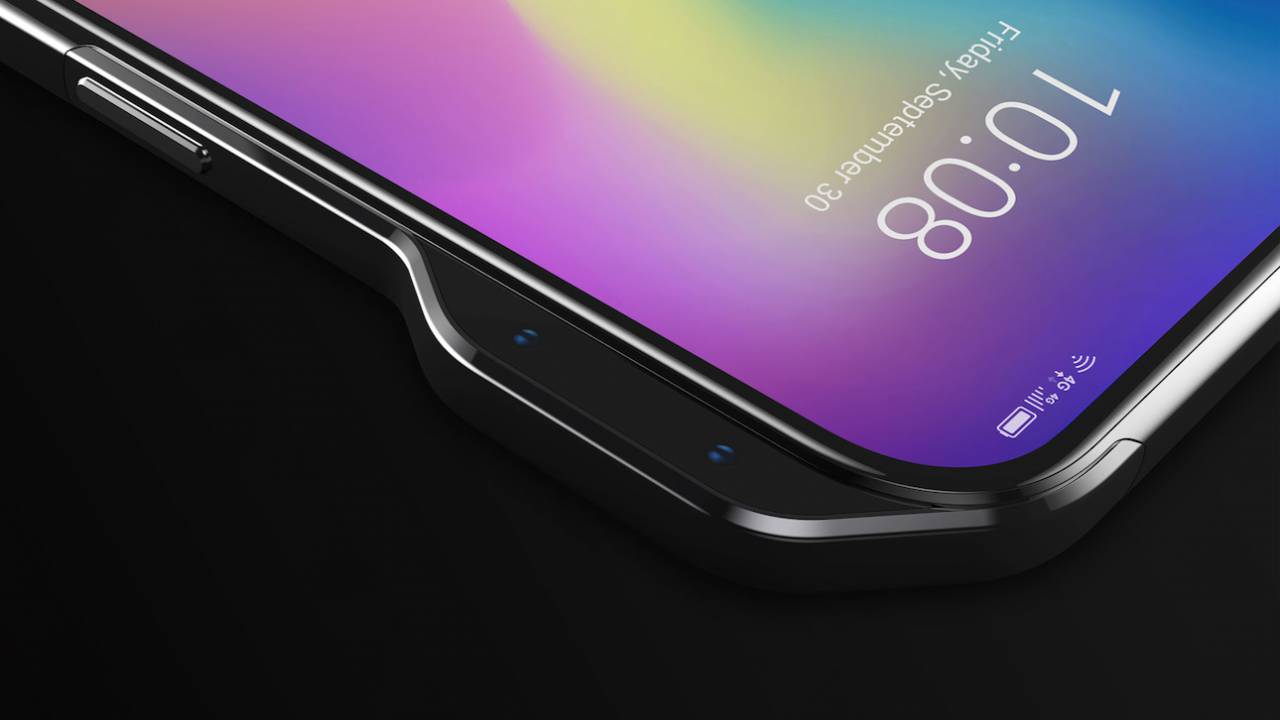 ZTE Axon V concept has cameras bulging from the side, rather than a notch