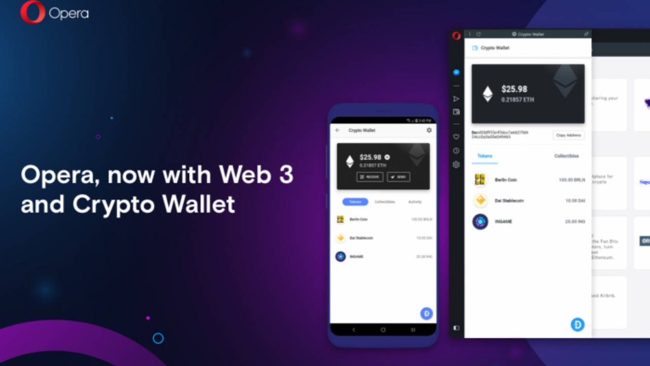 Opera 60 puts Crypto Wallets and Web 3.0 in your desktop