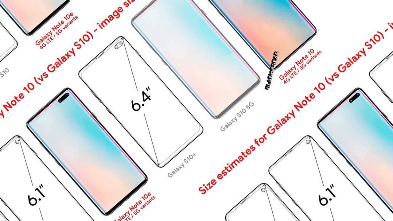 Galaxy Note 10 vs S10 size: Feature leak confirmations