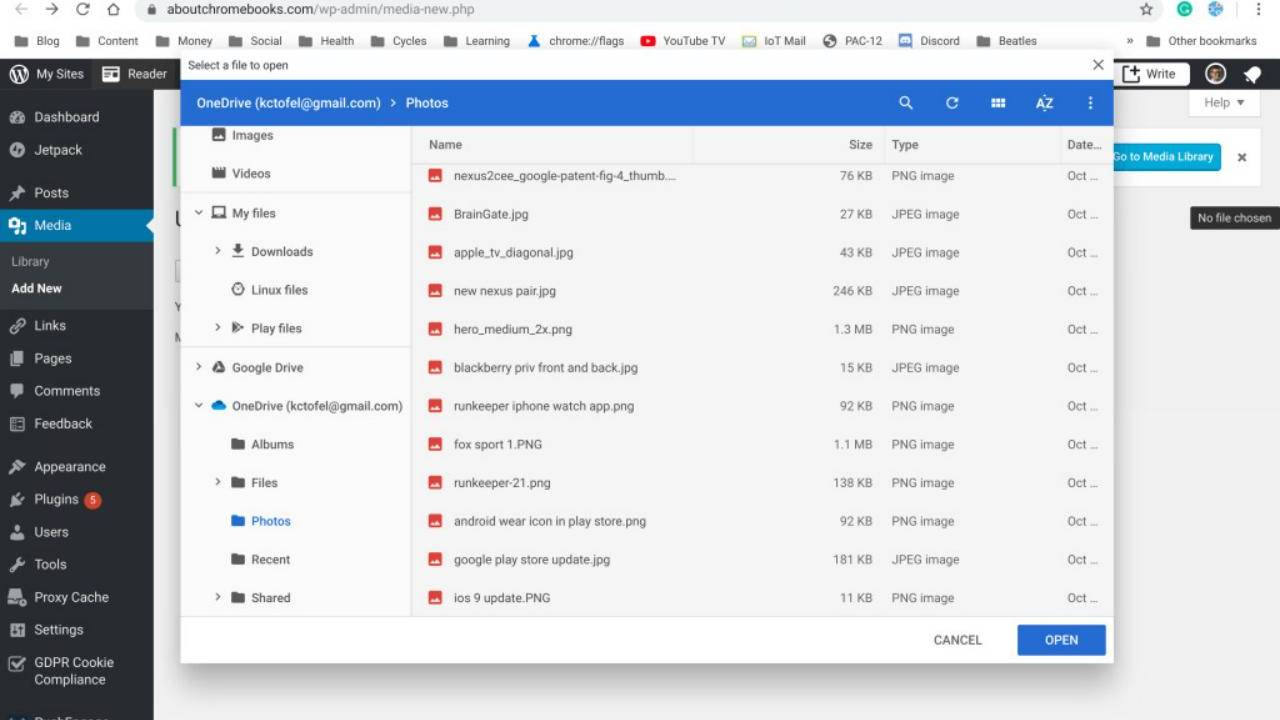 Chrome OS will show Android cloud storage apps in Files app