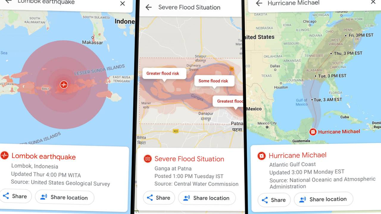 Google Maps will soon show natural disasters like it does traffic