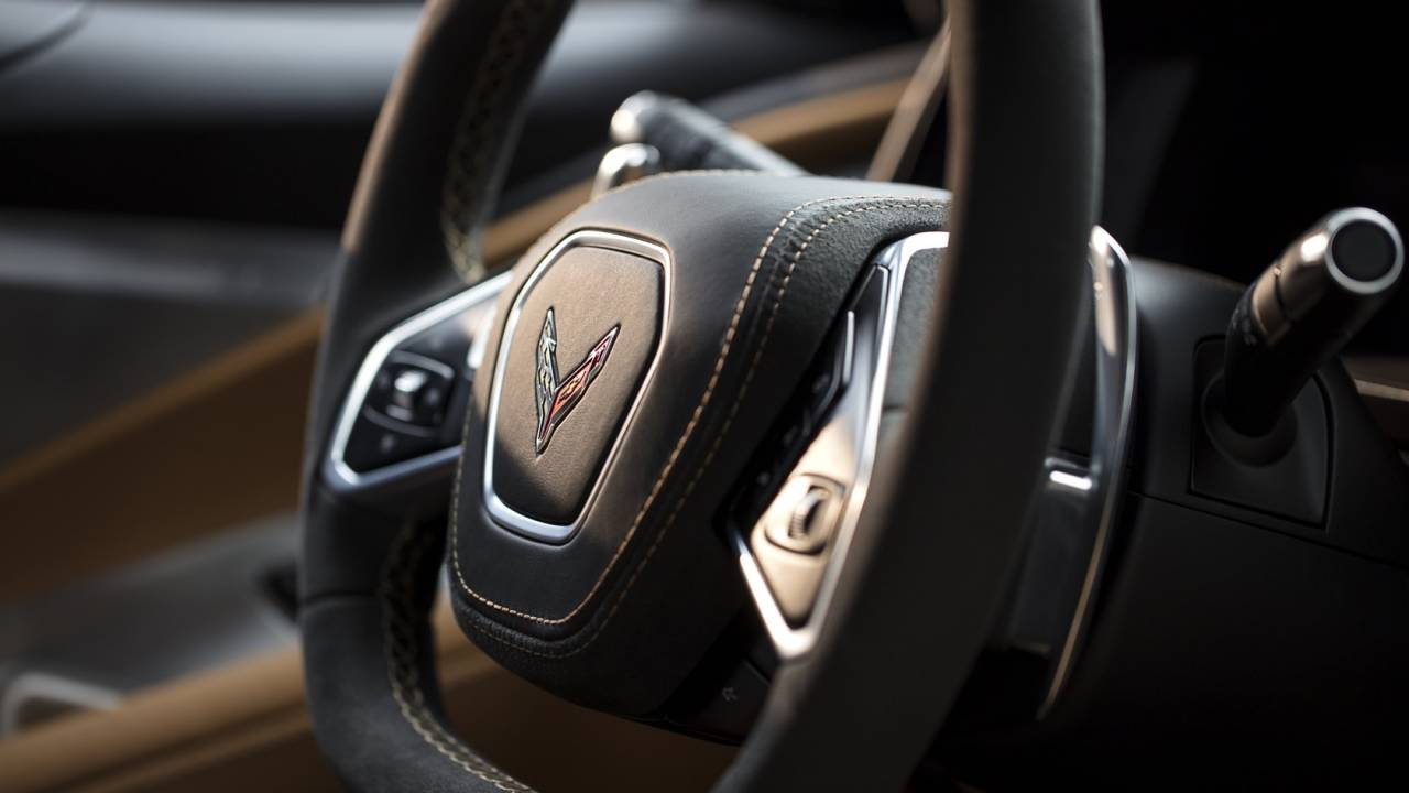 "Chevy says these buttons ""earned their place"" on the 2020 Corvette's dash"