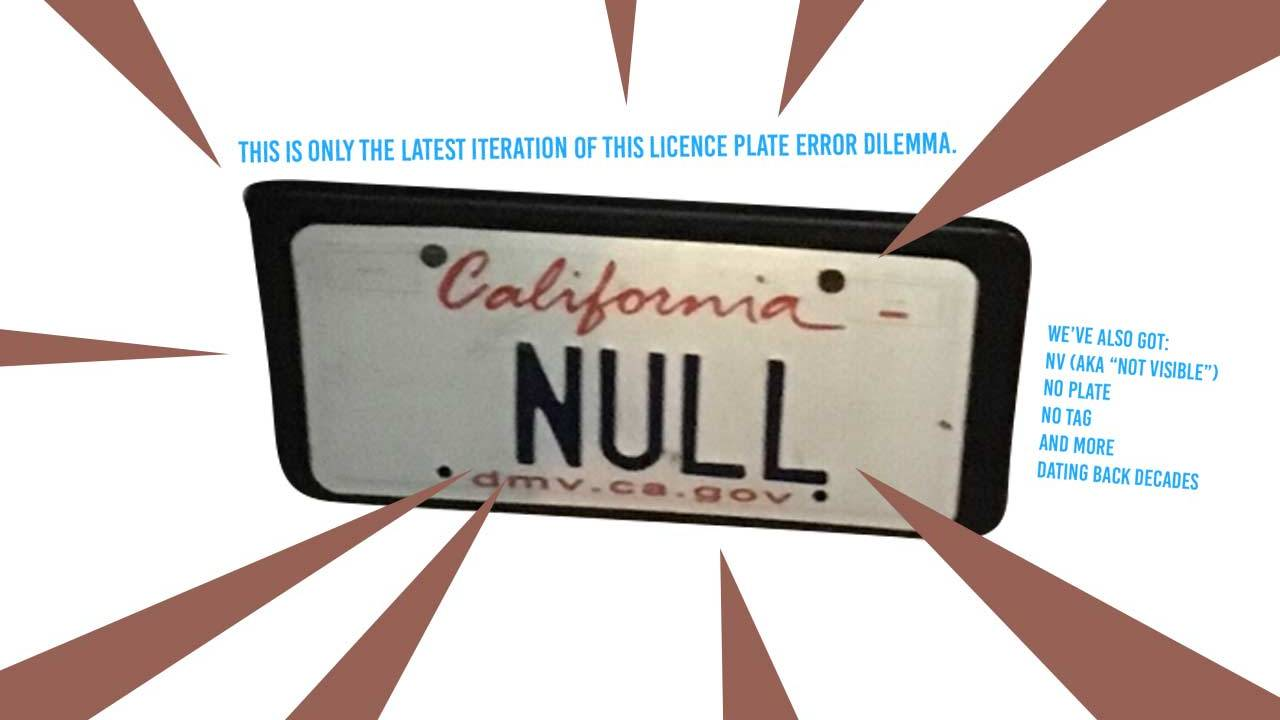 Vanity license plates have proven traffic ticket systems faulty for four decades [UPDATE]