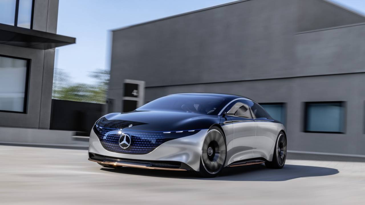 Mercedes-Benz VISION EQS is an unexpectedly practical concept of eco-luxury
