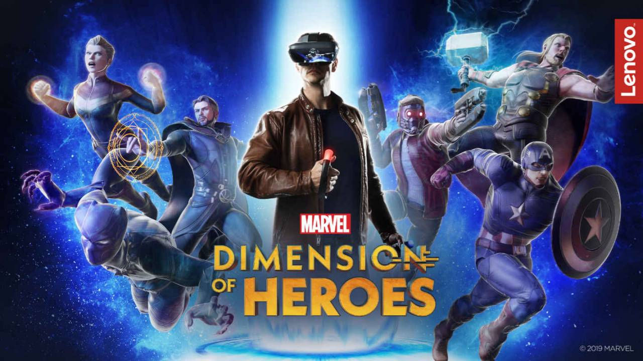 Lenovo Mirage AR headset brings 'Marvel Dimension of Heroes' experience