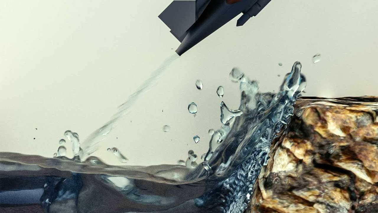 Robot swims and soars through the air using water as propulsion