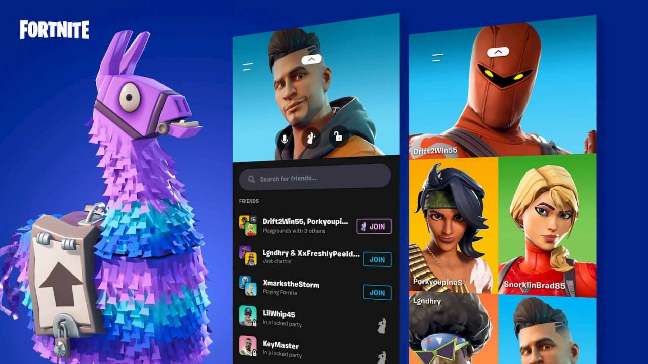 Fortnite v10.31 patch notes detail mobile's new Party Hub