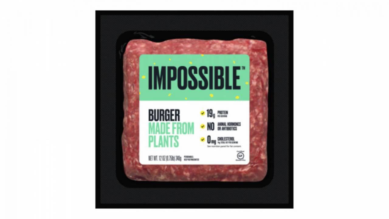 Impossible Burger ground 'meat' arrives in East Coast grocery stores