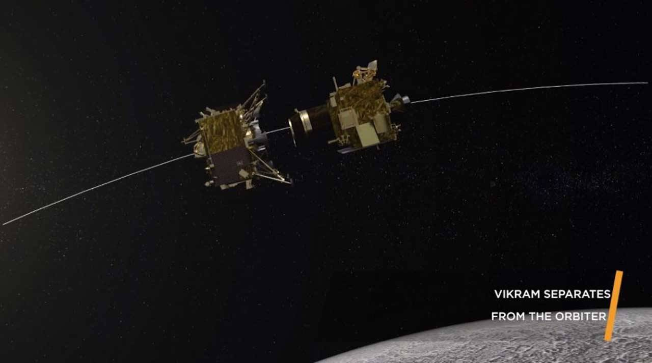 ISRO found lost lunar lander on the surface of the moon