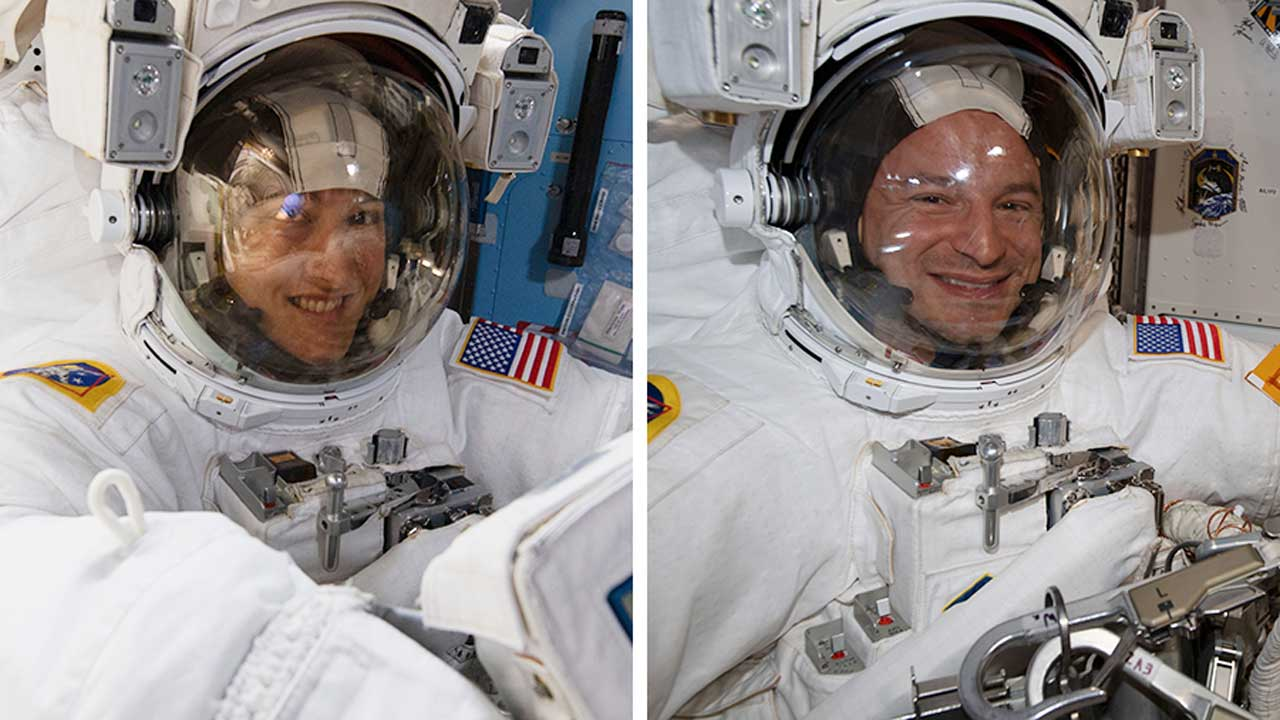 First of five spacewalks to upgrade ISS power completed.