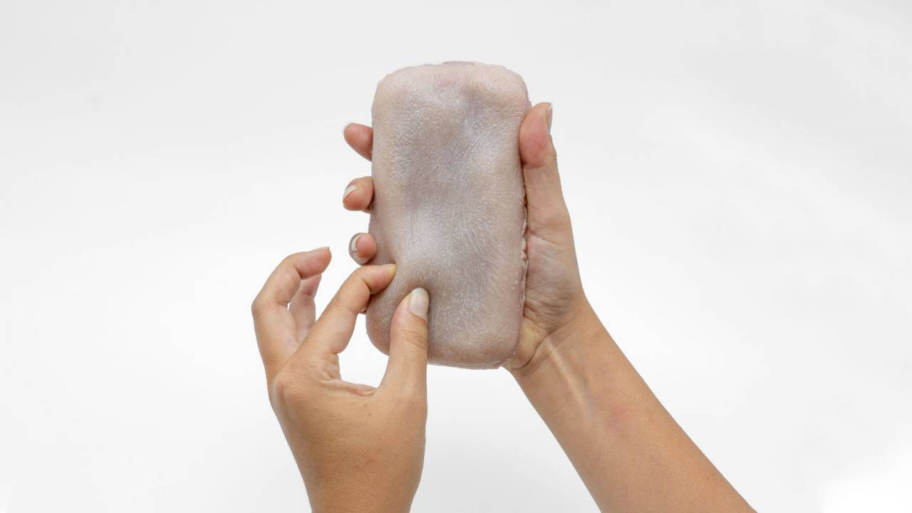 This fake human skin could be the squeezable future of your phone