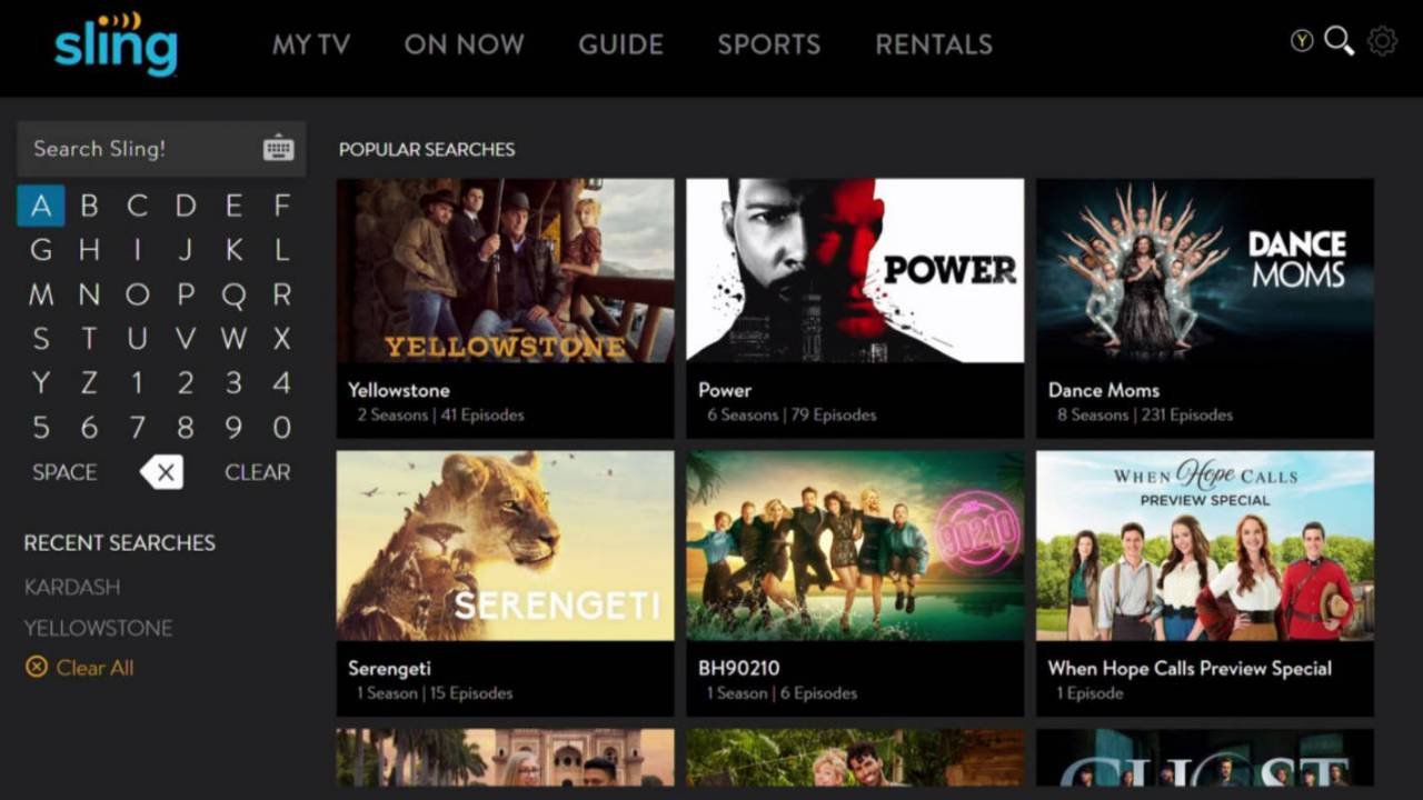 Sling TV's new Micro Guide makes it easier to casually browse shows