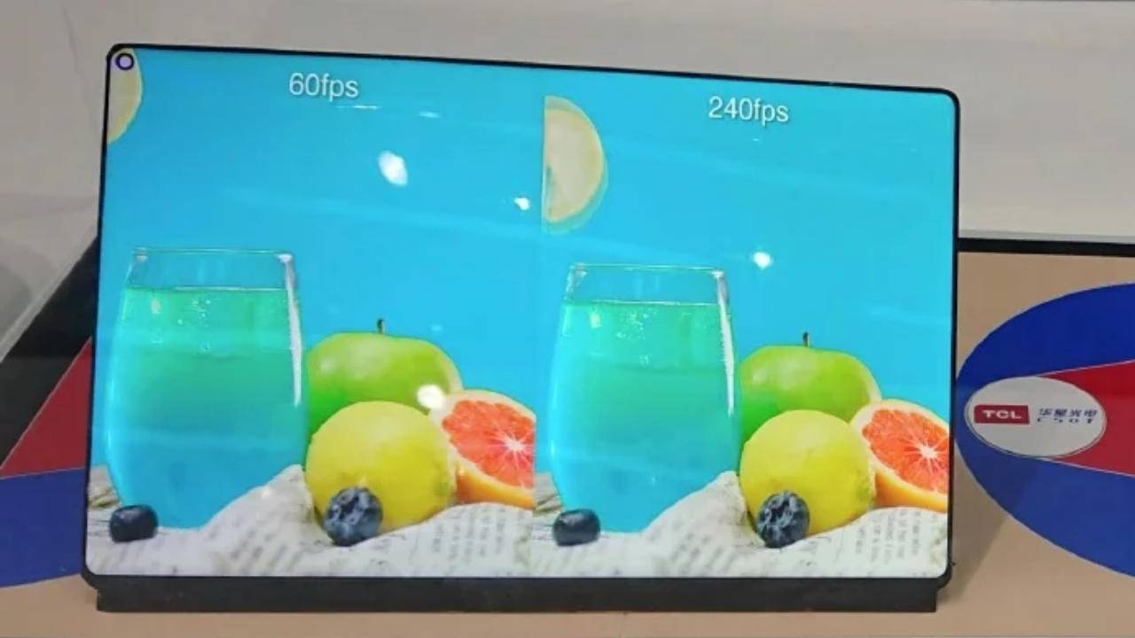 TCL WQ is a 240Hz gaming tablet screen with a punch-hole cutout