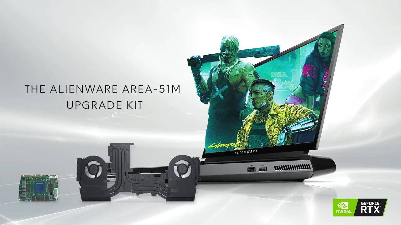 Alienware Area-51m GPU upgrade kit fulfills a long-time dream
