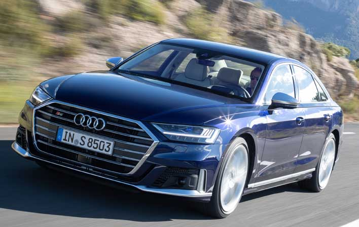 Audi S8 offers Bi-turbo 4.0L V8 with 571hp and 590 lb-ft torque