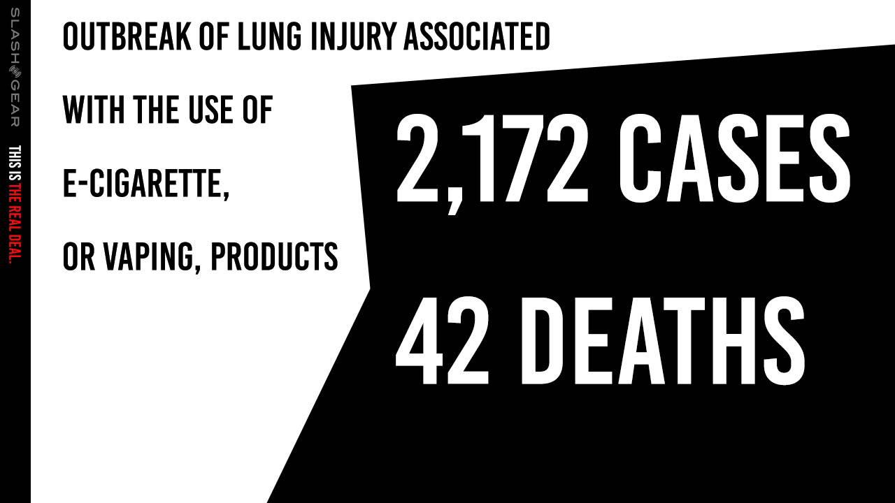 E-Cigarette Vaping EVALI lung injury and death count update