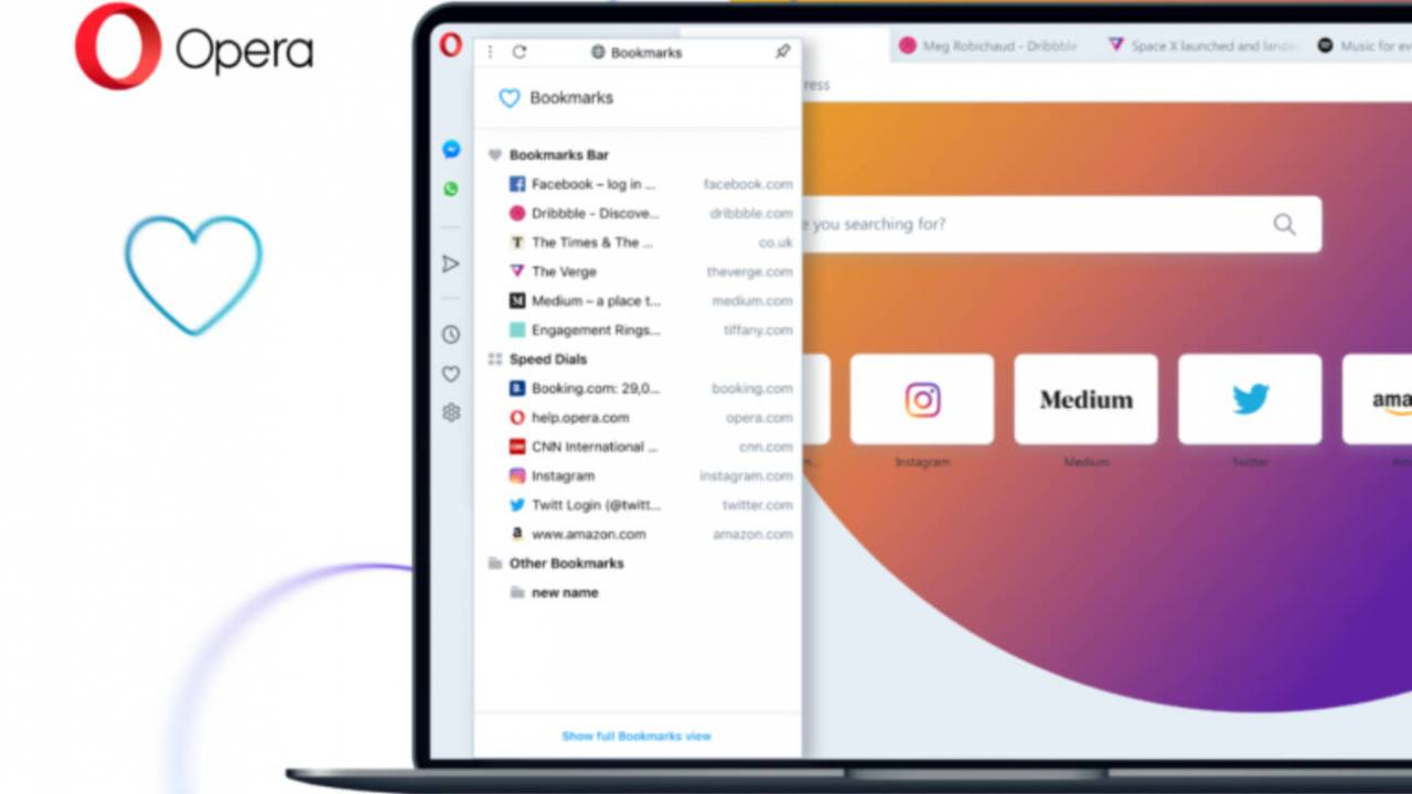 Opera 65 arrives with improved tracker feature and revamped bookmarks
