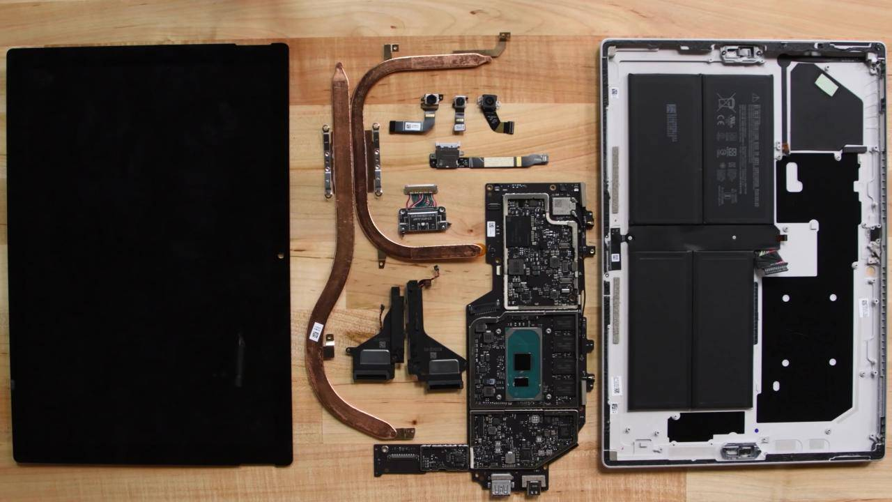 Surface Pro 7 is extremely difficult to repair based on iFixit teardown