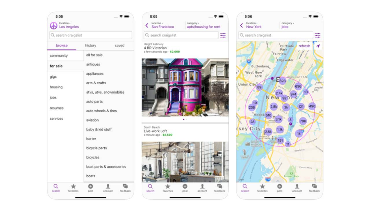 Craigslist finally launches mobile app and catches up to 2008