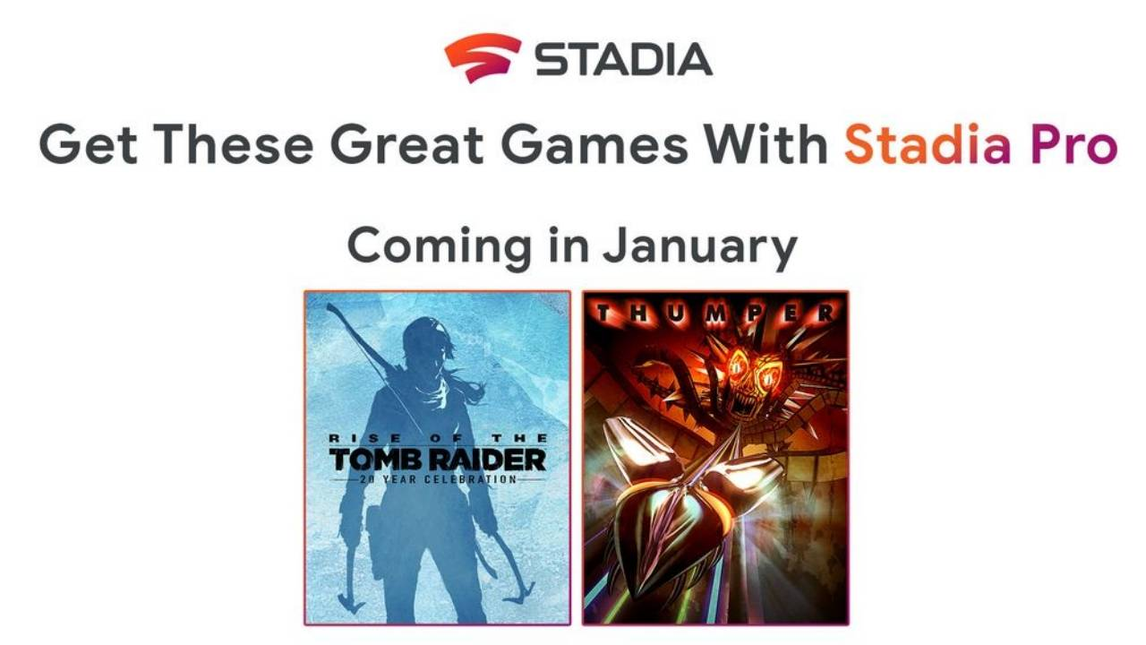 Stadia Pro January 2020 free games announced, one Tomb Raider leaving